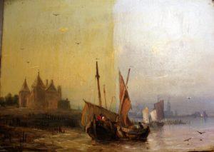 Atelier Lutz schilderijrestauratie Middelburg een voorbeeld van het verwijderen van een oude, vergeelde laag vernis